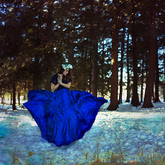 29-365 (baileyrogers) Tags: blue portrait flower female self project photography woods day dress forrest manipulation days explore textures crown 365 conceptual weeks