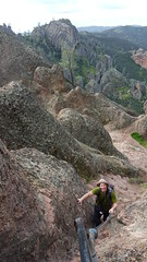 Up comes Fred -- Pinnacles NP