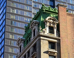 In Defiance of the Modern (pjpink) Tags: city nyc newyorkcity roof winter urban newyork building green architecture manhattan february ornate 2016 pjpink