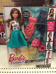 Saw at Target -Did not buy (Foxy Belle) Tags: mix doll long barbie skirt match brunette 2016