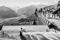 Looking for the highest (Mariusz Marszaek) Tags: city panorama mountain landscape switzerland nikon swiss hill sigma mountainside 1020 interlaken harder kulm szwajcaria d5300