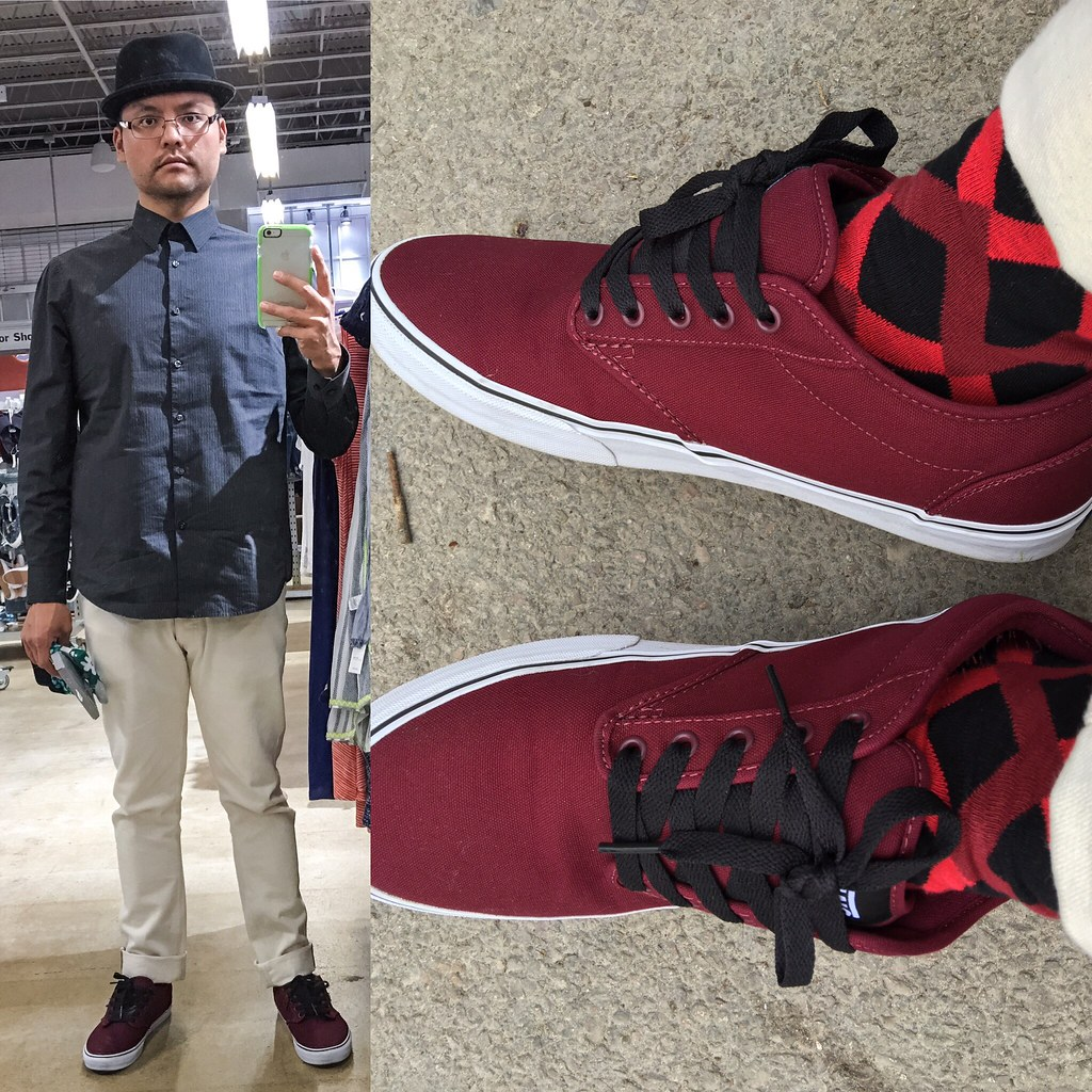 7fb1a1af82fe62 Outfit 20160214 (Freddie Avalos) Tags  hat socks outfit clothing shoes  burgundy vans apparel