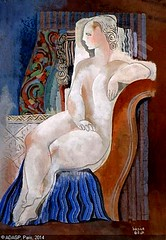 Lady on a Chair // by Bela Kdar (mike catalonian) Tags: portrait female painting hungary fulllength belakdar
