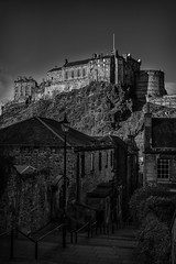 Castle Vennel Mono (mjbryant007) Tags: blackandwhite bw castle monochrome scotland edinburgh edinburghcastle february lothians 2016 vennel visitscotland thevennel february2016