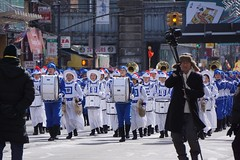 Falungong marching band (Billy Kuan-yin Chen) Tags: nyc newyorkcity newyork asian chinese parade queens marchingband falungong lunarnewyear flushing asianculture