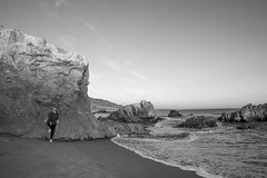 Leo Carrillo State Beach (jimsheaffer) Tags: california camping sunset blackandwhite rockformation beachcamping leocarrillo leocarrillostatebeach nikond750