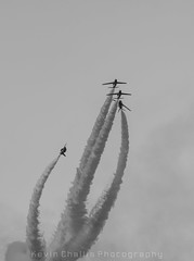 Red Arrows Corkscrew (KevinChallis) Tags: red white arrows 70200 f4 nikonf4 f4nikon 70200nikon redarrowspracticewinter trainingplanesplanejetsmokered bluesunskybluenikonnikon d750d750nikon