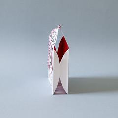 c (Elsita (Elsa Mora)) Tags: christmas paperart card redandwhite papercraft holidaycard papercutout elsita papercutting elsamora