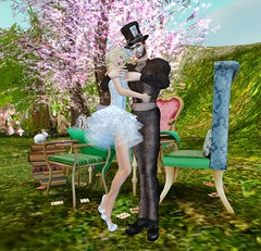 Alice and Hatter Love by Explorer Destiny (Explorer Destiny in SL) Tags: secondlife madhatter teaparty aliceinwonderland higs tayrensfantasyfashions