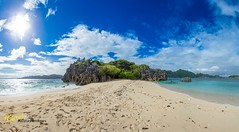 Caramoan Panorama HDR (Kostas Trovas) Tags: trees sea summer sky panorama green beach nature water beautiful clouds canon island amazing rocks flickr paradise turquoise philippines stitched hdr survivor traveler caramoan 6d 500px ef1740f4 instagram kostasimages