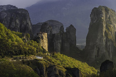 Meteora Greece after storm (gionabachmann) Tags: light storm greece meteora specland