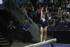 Allie Northey beam (11) (Susaluda) Tags: uw sports gold washington university purple huskies gymnastics dawgs