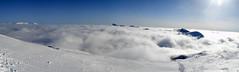 Les Alpes en hiver (Jacques Rochet) Tags: panorama en ski nature alpes hiver au nuages paysage vercors montagnes panoramique pistes dessus isre correnon