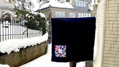 The Fireworks quilt is finished! {made by the TOGETHER circle} (by niveas) Tags:
