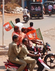 BJP celebrations, and police (Voyou Desoeuvre) Tags: india places badami