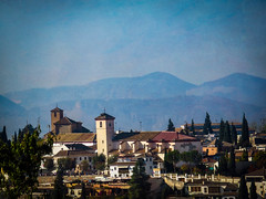 Morning in Granada (Colormaniac too (trying to catch up)) Tags: city morning urban landscape spain colorful mood cityscape scenic scene textures granada andalusia flypaper