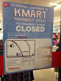 The pharmacy is now closed