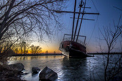 In Spring of the Year (KennyG-String) Tags: sunset canada lowlight stcatharines lakeontario shipwrecks tallships goldenhour niagaraonthelake niagararegion canon7dmkii