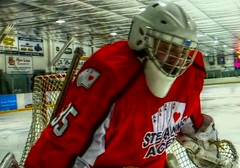 Ste-Anne Senior Aces - The Time Is Now (ezigarlick) Tags: canada hockey goalie manitoba arena cshl steanne steannesenioraces carillonseniorhockeyleague