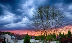 Sunset in Maryland (` Toshio ') Tags: sunset storm tree clouds maryland stormy toshio