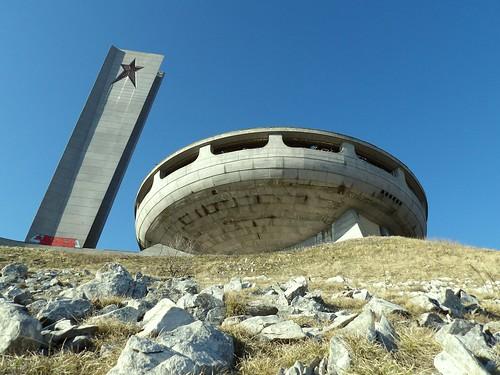 La maison du Parti Communiste depuis le chemin d'accès