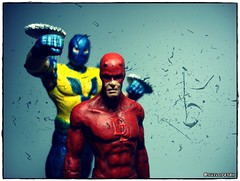 Daredevil and Gladiator! (Gui Lopes BH) Tags: classic action statues collection figurine marvel daredevil miniaturas coleo gladiador demolidor eaglemoss guilopesbh