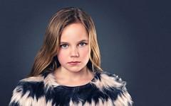 Fur (Le Pitch Photo) Tags: portrait girl fashion canon studio fur kid photographer sweden lastolite elinchrom studioshoot