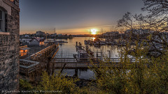 Sunset for a Friend (Cameron Knowlton) Tags: ocean sunset canada water boats harbor pier boat dock bc angle harbour wide wideangle victoria potd inner handheld ultrawide ultra hdr innerharbor innerharbour