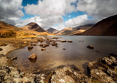 Wasdale clouds and shadows (alf.branch) Tags: lake west reflection water clouds landscape district lakes olympus cumbria zuiko wastwater wasdale refelections westernlakes olympusomdem5mkii ziuko918mmf4056ed