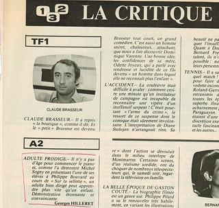 MICHEL SOGNY PRESSE TELE 7 JOURS JUIN 1979