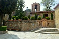 Village Center (madeline.golden) Tags: travel tower architecture bell greece villiage meteora monastary