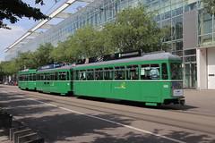 1455 (KennyKanal) Tags: tram basel grn aw bvb ffa altenrhein basler verkehrsbetriebe schienenfahrzeug drmmli