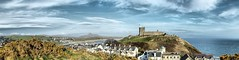 Criccieth castle stands proud with Snowdonia in the background (SierPinskiA) Tags: easter northwales criccieth 2016 dynamicphotohdr fujis9900w