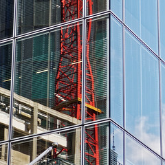 In Reflection #1 (Simply Lewis) Tags: city windows england urban reflection glass square frame cityoflondon canonpowershotg9x