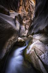 Worn by Nature (adambulley) Tags: longexposure utah waterfall slotcanyon