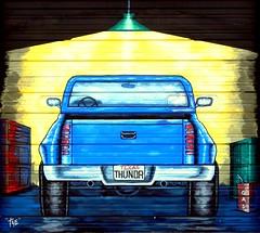 Texas THUNDR (e r j k . a m e r j k a) Tags: truck texas murals pickup publicart mclean encore 2010 erjkprunczyk i40tx