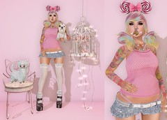 Post #1703 ( =^^=) Tags: roses food dog cute birdcage tattoo cat hair lights chair shoes pin cookie candy mesh furniture body lace kitty skirt ombre fortune secondlife kawaii sweets hud headband frills gacha applier pinkatude sashakittehwildrose
