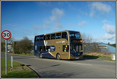 15938, Long March (Jason 87030) Tags: camera sky cloud 30 march northampton flickr northamptonshire sunny 400 roadside alpha publictransport longmarch northants stagecoach doubledecker enviro march29 2016 daventry 29march gole ilce 15938 howdens yn63byd sonya6000