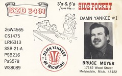 Sidepocket - Melvindale, Michigan (73sand88s by Cardboard America) Tags: vintage michigan pictured billiards qsl cb cbradio qslcard