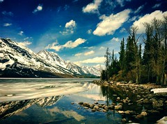 Reflection (smnth_ju07) Tags: summer lake reflection adventure grandteton iphone