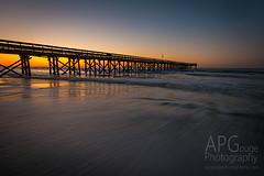 IOP Sunrise (APGougePhotography) Tags: ocean beach water sunrise palms flow dawn pier nikon glow south charleston carolina isle chs topaz d800 iop isleofpalms topazlabs nikond800 topazdenoise topazdetail
