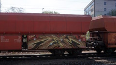Graffiti in Kln/Cologne 2015 (kami68k [Cologne]) Tags: train graffiti cologne kln illegal freight bombing hgk 2015 dhgk 80countrycode aeim