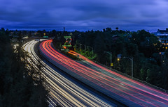 harrison street overpass (pbo31) Tags: california blue red sky urban motion color oakland spring nikon highway view traffic over bayarea april eastbay bluehour piedmont alamedacounty interchange roadway 580 2016 lightstream boury pbo31 d810