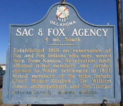 Sac & Fox Agency Marker (Stroud, Oklahoma) (courthouselover) Tags: oklahoma route66 stroud ok roadsideamerica lincolncounty oklahomahistoricalmarkers oklahomacitymetropolitanarea