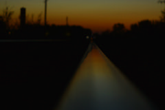 Long rail (lykruweofficial) Tags: trees sunset sky nature focus colorful rail gradient