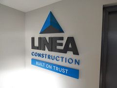 Linea Construction (Owen Kerr Signs) Tags: uk signs scotland edinburgh pavement glasgow murals safety modular signage ayr decals lightbox wayfinding ayrshire fascia manifestations glassetching outdoorsignage freestanding canvasprints shopsignage windowgraphics retailsignage officesignage acrylicprints propertysignage realestatesignage owenkerrsigns owenkerr