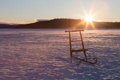 end of day (Stefan Giese) Tags: canon evening sonnenuntergang sundown snowscape sledge schlitten 6d schneelandschaft 24105mm