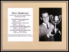 Desi Anderson, Northern Ireland, 1934-2009 (BangorArt) Tags: bangor champion northernireland billiards trophy snooker countydown allireland paulanderson cupwinner alexhiggins bangorart desianderson