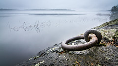 Waiting the season (Jarkko T) Tags: lake ice water rock metal finland spring kuopio kallavesi