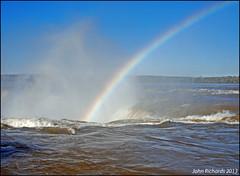 Rainbow. Iguazu Falls. (john.richards1) Tags: argentina river rainbow nikon falls iguazu d80